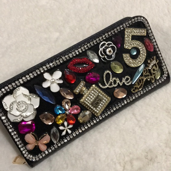 Other - Black Sparkly wallet